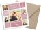 quadratische Dankeskarte zur Kommunion mit Fotos, Motiv: Bildreich KD, mit Briefhülle, Farbvariante: altrosa