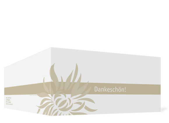Danksagung zur Silbernen Hochzeit, Motiv Florenz, Außenansicht, Farbversion: beige