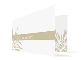 Danksagung Goldhochzeit Florenz (Klappkarte, mit Foto) Beige
