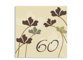 Einladungskarte Growing zum 60. Geburtstag Beige