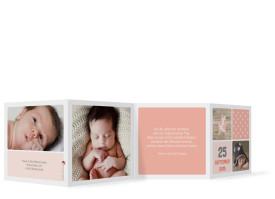 Babykarte Lucia/Luca (Leporello) Apricot