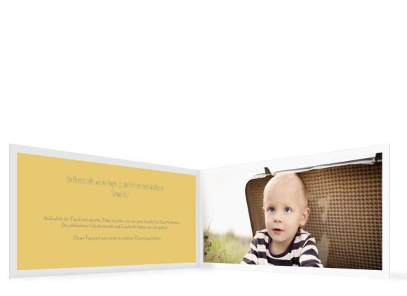 Taufkarten Tilda/Till, Innenseiten in gelb