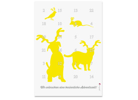 Adventskalender Haustiere (DIN A4) Gelb
