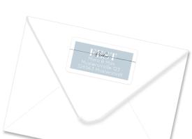 """Firmen Adressetikett """"Festliche Post"""" graublau"""