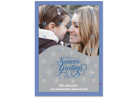 Adventskalender Seasons (DIN A4) Blau