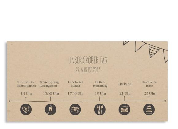 Einladungskarten zur Hochzeit Timeline Cute