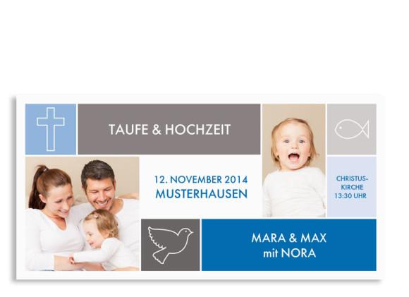 Einladungen zur Taufe & Hochzeit Athen (Postkarte)