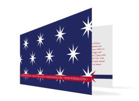 Geschäft Weihnachtskarten Big Stars Blau/Rot