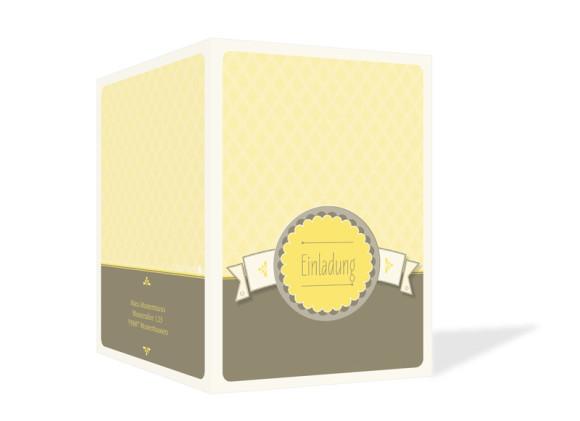 Außenansicht, Einladungen Anniversary, Farbversion: gelb