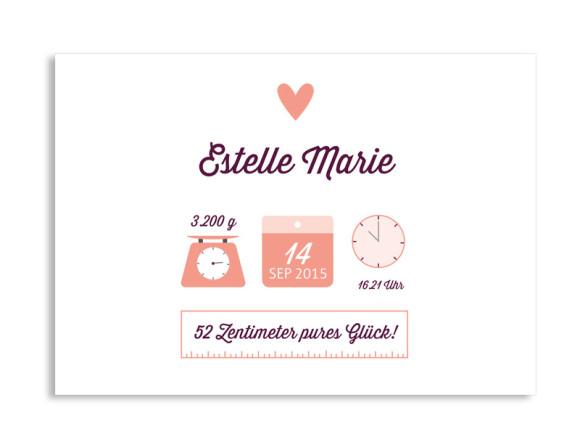 Geburtskarte Estelle/Etienne (Postkarte A6)