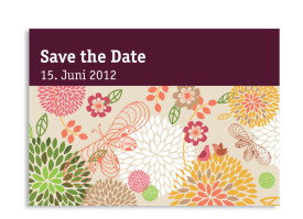 Save-The-Date-Hochzeitskarte Lissabon (Postkarte A6) Bordeaux
