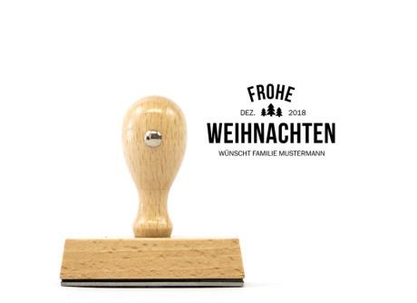 "Weihnachtsstempel ""Tannenbaum"" (Holzstempel, ca. 70 x 30 mm)"