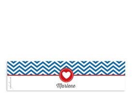 Serviettenbanderolen Hamptons Heart Blau/Rot