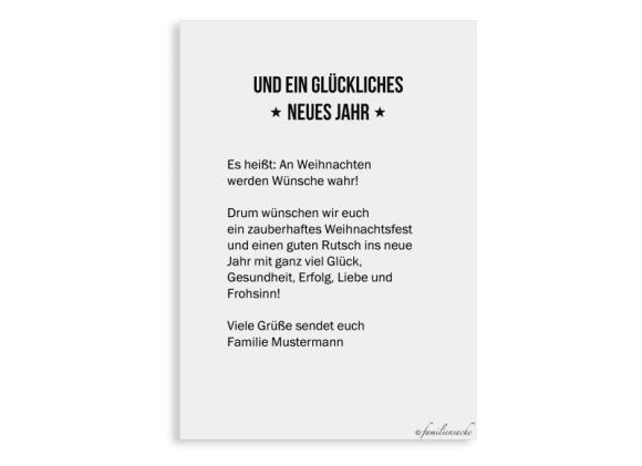 Postkarte A6, Motiv: Tannenbaum, Rückseite, Farbvariante: schwarz
