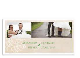 Danksagungen zur Hochzeit Budapest Grün