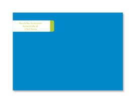 Adressbanderolen Farbfläche