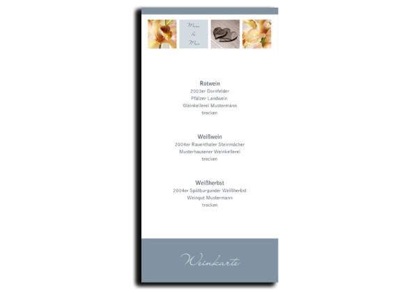Menükarten zur Hochzeit Saint Tropez (DIN Lang-Karte)