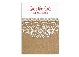 Save the Date Karten Heidelberg (Postkarte) Bordeaux