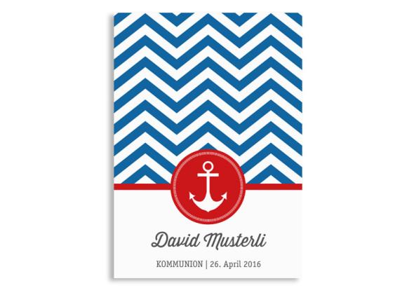Einladungskarten zur Kommunion Hamptons Anchor