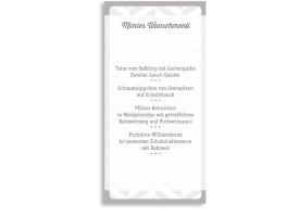 Menükarten zur Konfirmation Pattern (Postkarte) Beige