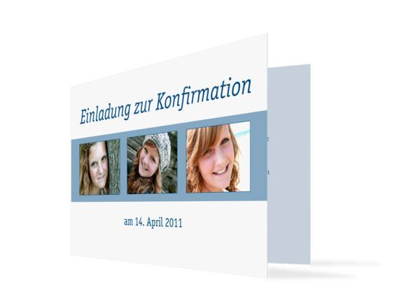 Einladung Jette/Jannik zur Konfirmation (Klappkarte C6)