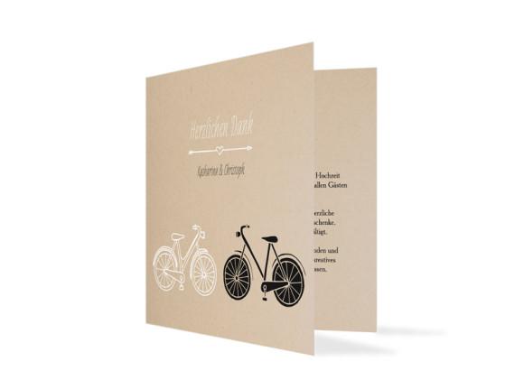 Hochzeitsdanksagung Fahrrad