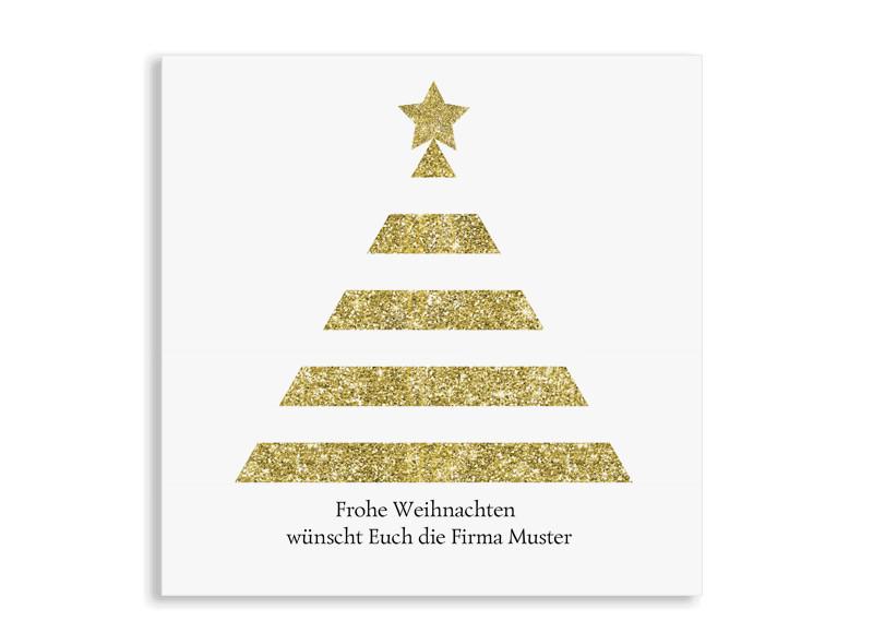 Weihnachtskarte für Firmen online gestalten: Copper tree | Postkarte ...