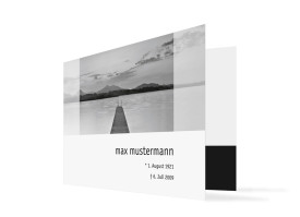 Trauerkarten Steg (Klappkarte C6) Grau