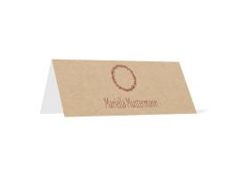 Tischkarten zur Kommunion Nature Bordeaux