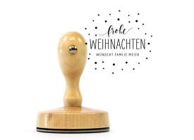 """Weihnachts-Stempel """"Sternenzauber"""" (Holzstempel)"""