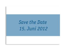 Save-The-Date-Hochzeitskarte Klassik (Postkarte A6) Blau
