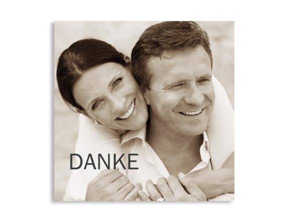 Dankeskarte zur Hochzeit Blanche