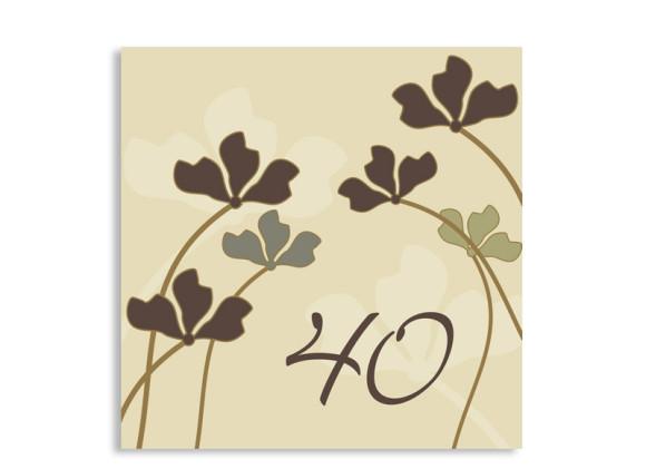 quadratische Einladung Growing zum 40. Geburtstag