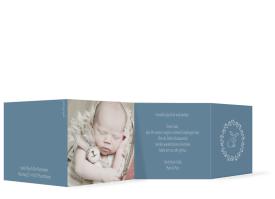 "Geburtskarte ""Dana/Daniel"" graublau"