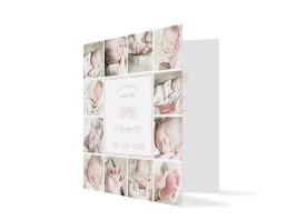 Geburtskarte Carmen/Campino altrosa