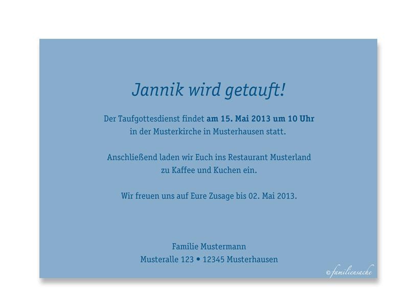 Taufkarten Gestalten: Jette/Jannik