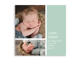 Geburtskarten Boxes Pistazie