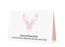 Business-Weihnachtskarte Origami (mit Logo) Apricot