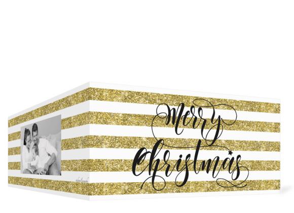 Grußkarte zu Weihnachten Copper, Goldanmutung Außenseiten