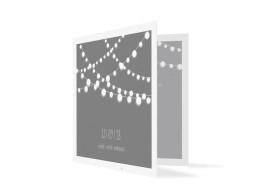 Danksagungskarte zur Hochzeit Lichterkette