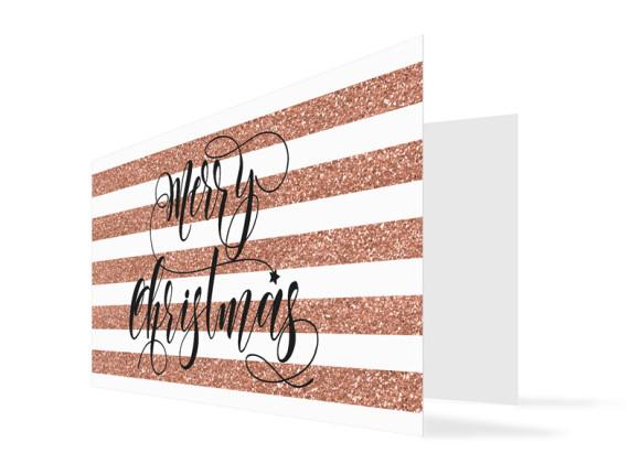 Grußkarte zu Weihnachten Copper (Klappkarte)