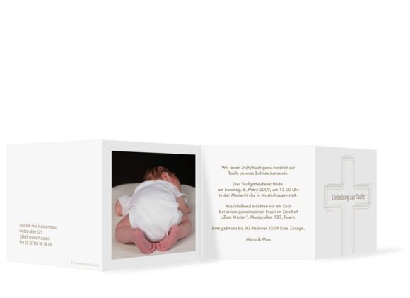 taufkarten online gestalten justus jasmin leporello zur taufe. Black Bedroom Furniture Sets. Home Design Ideas