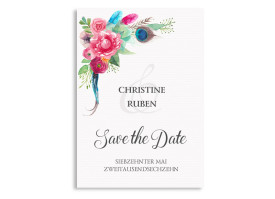 Save The Date Boho Anthrazit