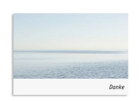 Trauer Danksagung Meer ( Postkarte) Weiß