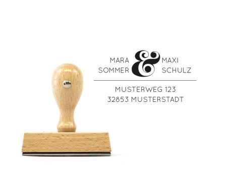 Holz-Stempel Salzburg mit Adresse (rechteckig, 70 x 30 mm)