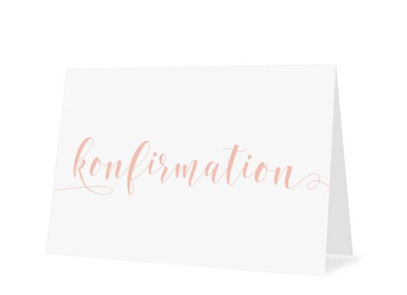 Einladungskarten zur Konfirmation Calligraphy