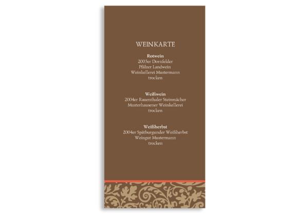 Menükarten zur Hochzeit Rokko (DIN Lang-Karte)