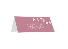 "Tischkarte ""Malmö"" altrosa"