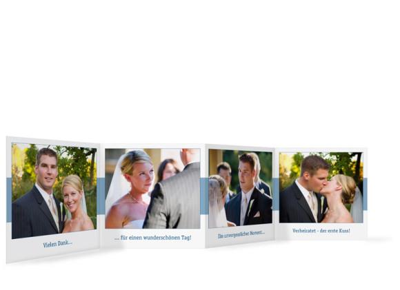 Innenansicht Foto-Leporello, Gastgeschenk, Motiv Klassik, Farbversion: blau