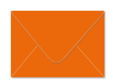 Umschlag im Format C6 (162 x 114 mm), orange